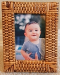 Small Rattan Photo Frame