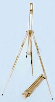 Wood Field Easel, Folding Sketch Display Easel