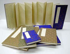 Sketch and Calligraphy Screen Accordion Book Gold Speck (5.5'' x 8'')