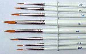 WBS-LS596  Long's Round Brush Set